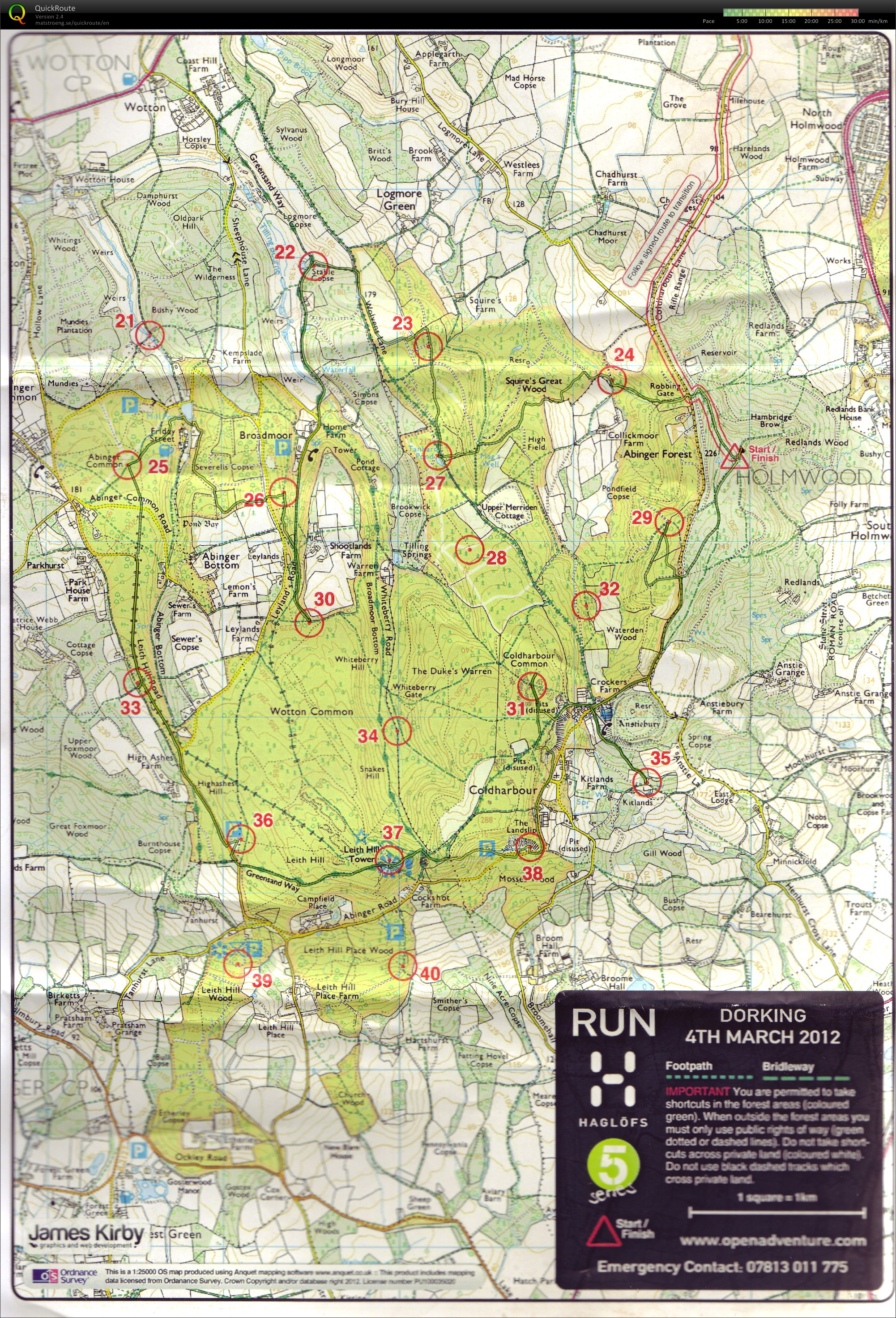Open Adventure - North Downs - Run